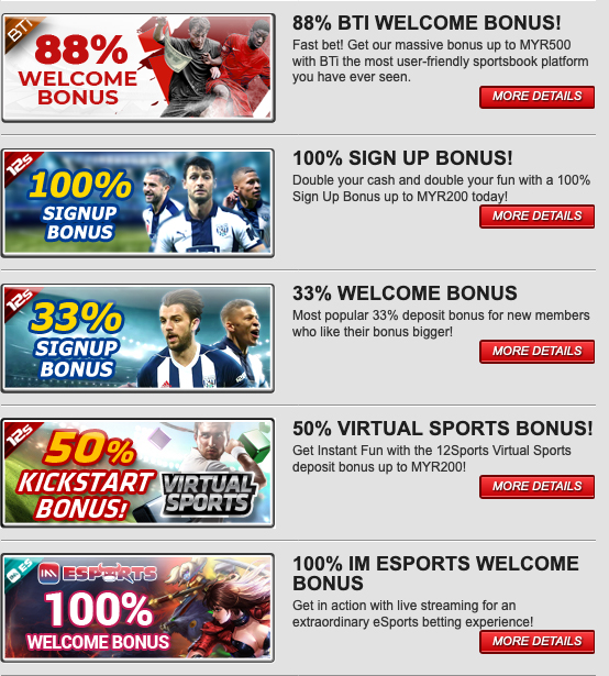 12bet Bonuses and Promotions