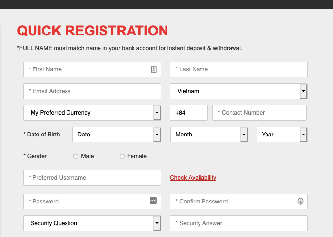 How to Register at 12bet