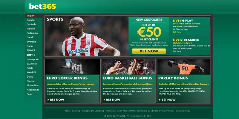bet365 homepage screenshot
