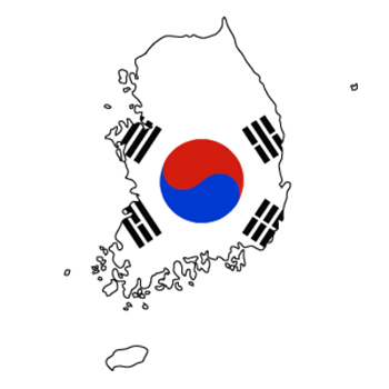 Korea-Flag-and-map