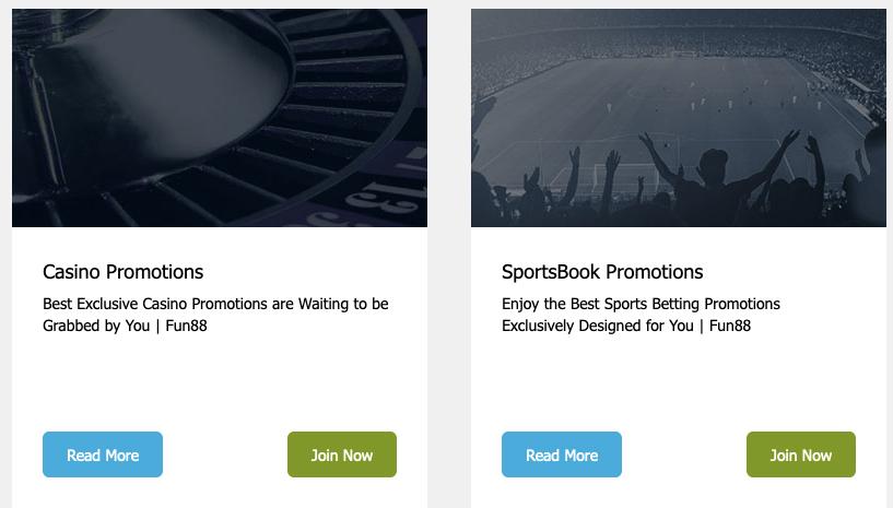 fun88 promotions and bonus screenshot