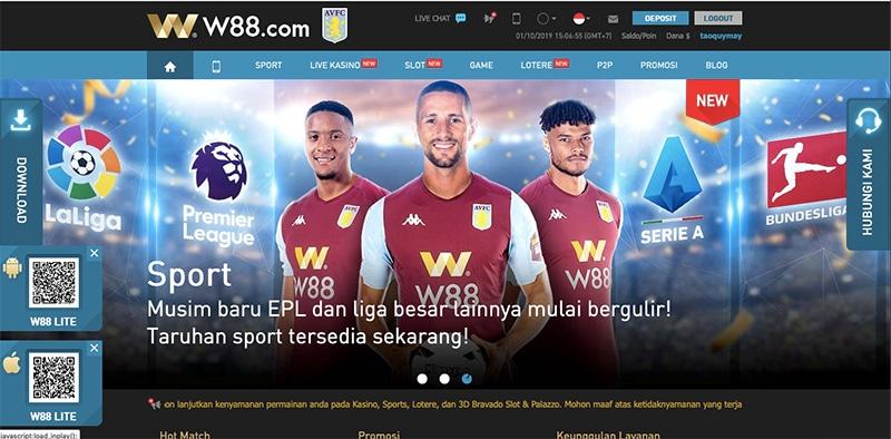 w88-homepage-screenshot