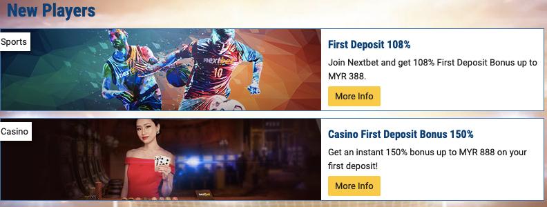 welcome bonus at nextbet