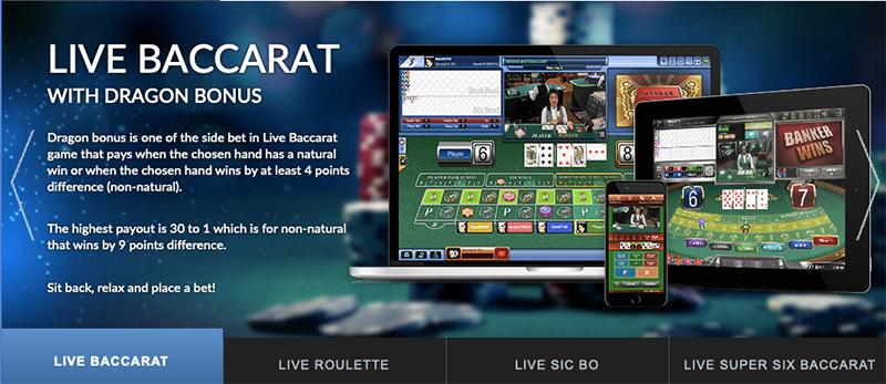 live baccarat at SBOBET